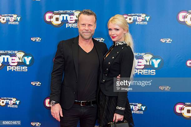 Jenke von Wilmsdorff and Mia Bergmann attend the 20th Annual German Comedy Awards at Coloneum on October 25 2016 in Cologne Germany