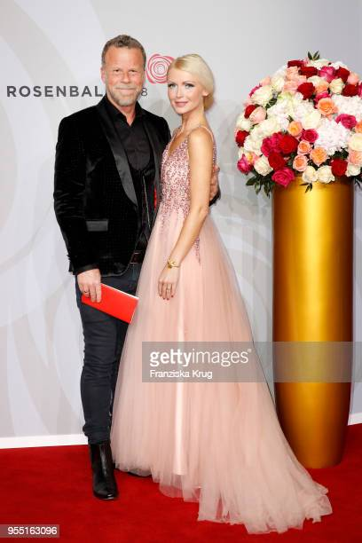 Jenke von Wilmsdorff and Mia Bergmann during the Rosenball charity event at Hotel Intercontinental on May 5 2018 in Berlin Germany