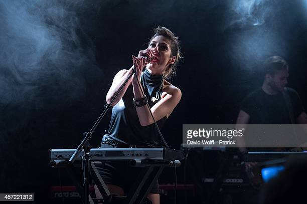 Jenn Ayache performs during private showcase at Divan du Monde on October 14 2014 in Paris France