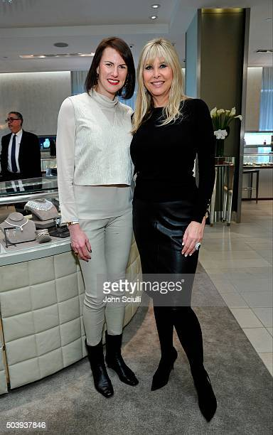 Jenn Bruno and Irena Medavoy attend Town Country's Stellene Volandes and Irena Medavoy Celebrate The Golden Globes with a preview of Roberto Coin's...