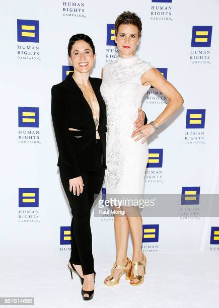 Jenn Colella and guest attend the 21st Annual HRC National Dinner at the Washington Convention Center on October 28 2017 in Washington DC