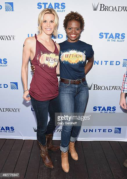 Jenn Colella and LaChanze attend 'Stars In The Alley' at Shubert Alley on May 21 2014 in New York City