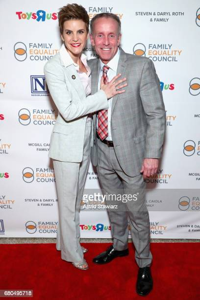 Jenn Colella and Stan Sloan at Family Equality Council's Night at the Pier at Pier 60 on May 8 2017 in New York City