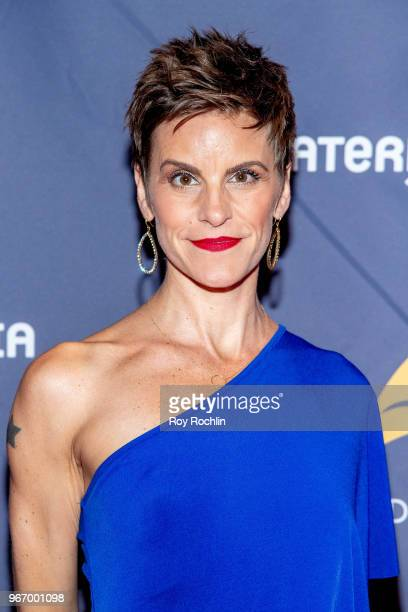 Jenn Colella attends the 2018 Drama Desk Awards arrivals at Anita's Way on June 3 2018 in New York City