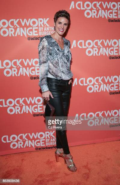 Jenn Colella attends the OffBroadway opening night of 'A Clockwork Orange' at New World Stages on September 25 2017 in New York City