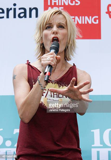 Jenn Colella from the cast of If/Then performs during 1067 LITE FM's Broadway in Bryant Park 2014 at Bryant Park on July 10 2014 in New York City