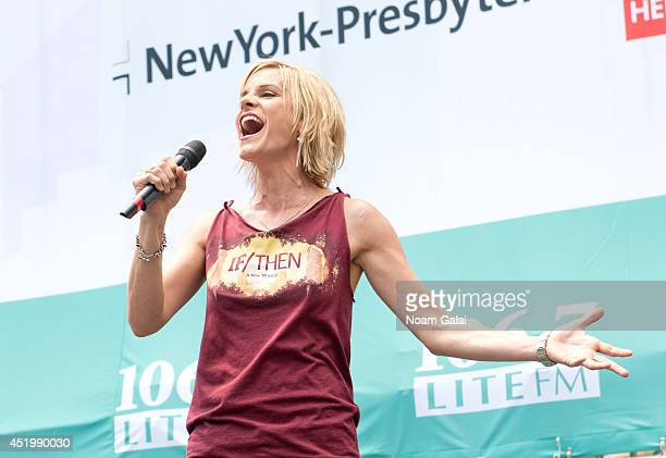 Jenn Colella performs at 1067 LITE FM's Broadway In Bryant Park 2014 on July 10 2014 in New York City