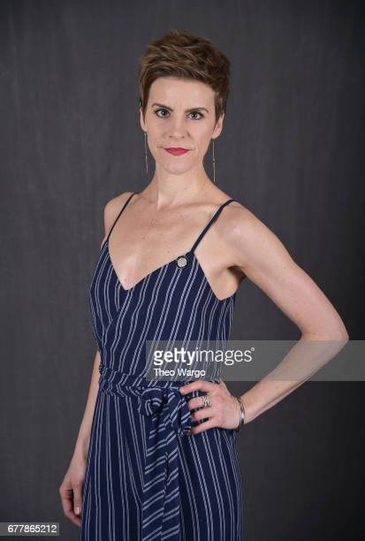 Jenn Colella poses at the 2017 Tony Awards Meet The Nominees press junket portrait studio at Sofitel New York on May 3 2017 in New York City