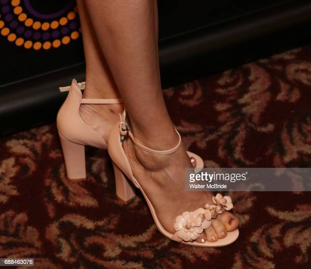 Jenn Colella shoe detail attends the 67th Annual Outer Critics Circle Theatre Awards at Sardi's on May 25 2017 in New York City