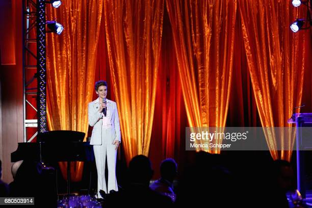 Jenn Colella speaks on stage at Family Equality Council's Night at the Pier at Pier 60 on May 8 2017 in New York City