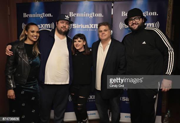 Jenn Daniel Chris Stanley Gail Bennington Ron Bennington and Vito Calise pose for a photo during SiriusXM host Ron Bennington's annual Thanksgiving...