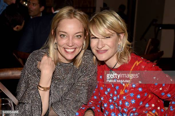 Jenn Faylo and Julie Macklowe attend Billy Macklowe's 50th Birthday Spectacular at Chinese Tuxedo on April 21 2018 in New York City