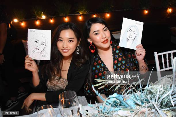 Jenn Im and Stephanie Villa attend the Flaunt Magazine Dinner with Nike and Revolve on February 15 2018 in Los Angeles California