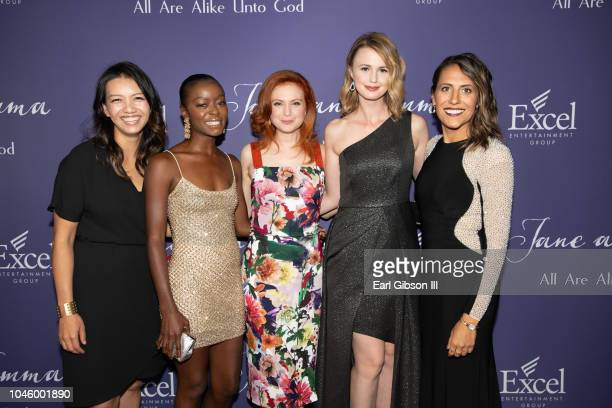 """Jenn Lee Smith, Danielle Deadwyler, Emily Goss, Madeline Jorgensen and Chantelle Squires attends the """"Jane & Emma"""" Special Screening at ArcLight..."""