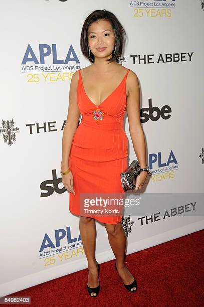 Jenn Liu arrives at the 8th Annual APLA Oscars Viewing Party at The Abbey on February 22 2009 in West Hollywood California