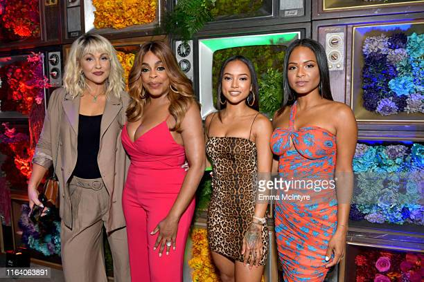 Jenn Lyon Niecy Nash Karrueche Tran and Christina Milian attend WarnerMedia's A Midsummer Daydream TCA afterparty at Spring Place on July 24 2019 in...