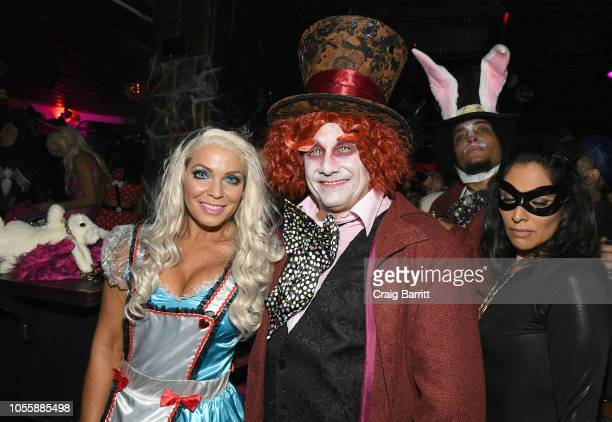 Jenn Mazur and Kevin Mazur attend Heidi Klum's 19th Annual Halloween Party Sponsored by SVEDKA Vodka and Party City at Lavo NYC on October 31 2018 in...