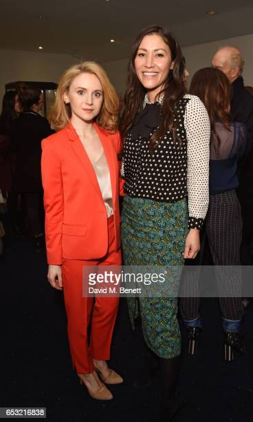 Jenn Murray and Eleanor Matsuura attend the Into Film Awards 2017 at Odeon Leicester Square on March 14 2017 in London England