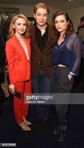 Jenn Murray Freddie Fox and Sophie Cookson attend the Into Film Awards 2017 at Odeon Leicester Square on March 14 2017 in London England