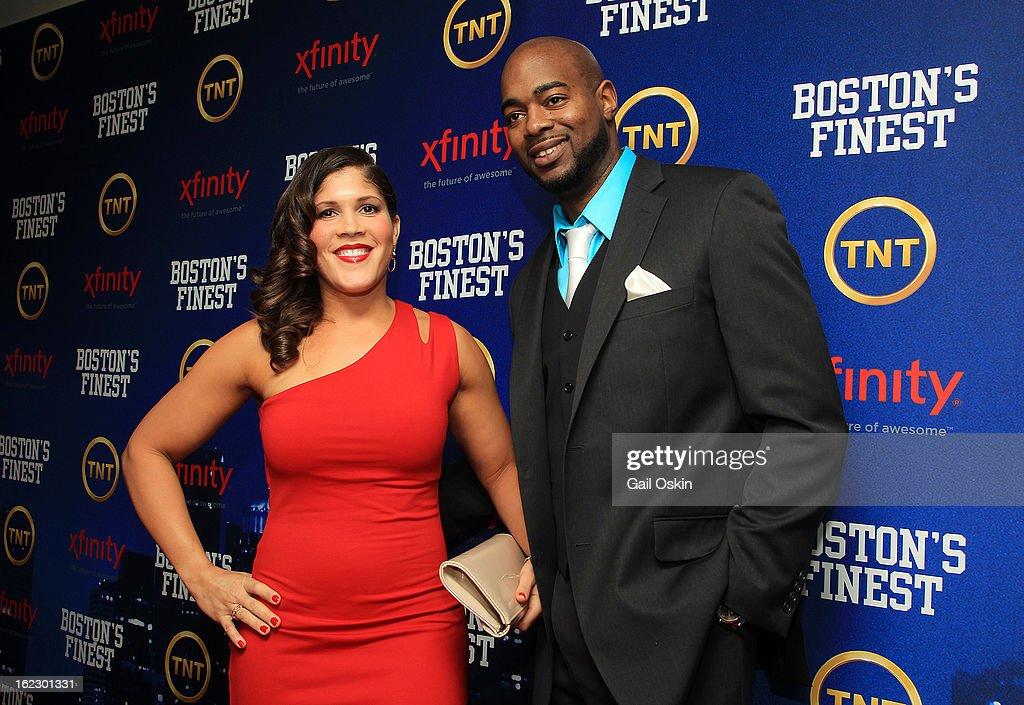 Jenn Penton and Myles Lawton attend TNT's 'Boston's Finest' premiere pcreening at The Revere Hotel on February 20, 2013 in Boston, Massachusetts.
