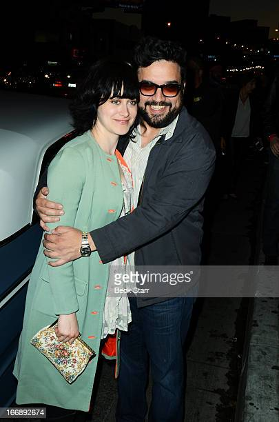 Jenn Schatz and Horatio Sanz arrive at Cheech And Chong's Animated Movie VIP green carpet premiere at The Roxy Theatre on April 17 2013 in West...