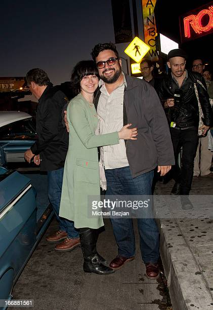Jenn Schatz and Horatio Sanz attend Cheech And Chong's Animated Movie VIP Green Carpet Premiere at The Roxy Theatre on April 17 2013 in West...