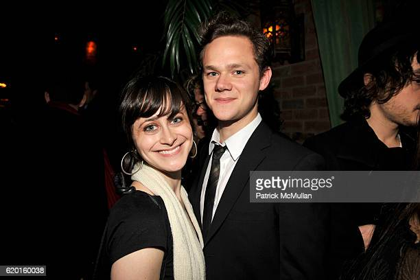 Jenn Schatz and Joseph Cross attend THE CINEMA SOCIETY DETAILS host the after party for MILK at Bowery Hotel on November 18 2008 in New York City