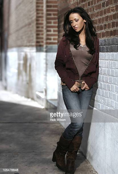Jenn Sterger poses during a photo shoot on April 20 2007 in downtown Jacksonville Florida