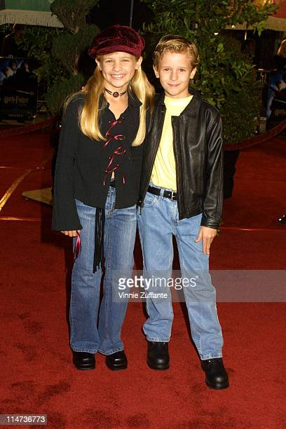 Jenna and Cayden Boyd attending the premiere of 'Harry Potter and the Chamber of Secrets' November 14 2002 Mann Village Theatre Westwood CA