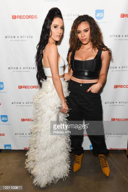 Jenna Andrews and Dinah Jane attend a special night with Jenna Andrews The Jed Foundation and Alice Olivia at Alice Olivia Boutique on January 21...