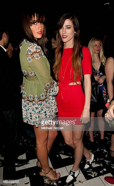 Jenna Andrews and Nylo attend Republic Records GRAMMY Party on January 26 2014 in Los Angeles California