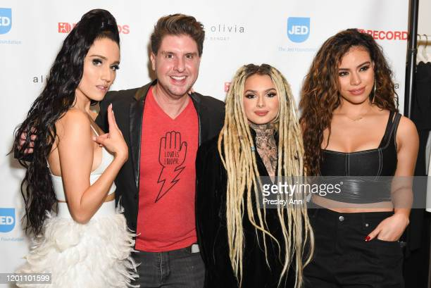 Jenna Andrews Courtney Knowles Zhavia Ward and Dinah Jane attend a special night with Jenna Andrews The Jed Foundation and Alice Olivia at Alice...