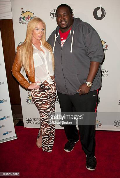 Jenna Bentley and Quinton Aaron attend 7th Annual Stars Strikes Celebrity Bowling And Poker Tournament Benefiting A Place Called Home at PINZ Bowling...
