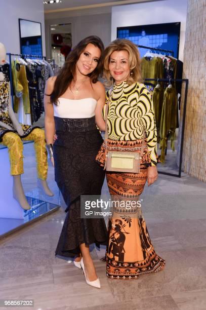 Jenna Bitove and Vonna Bitove attend the Designer Mary Katrantzou visit at The Room at Hudson's Bay on May 14, 2018 in Toronto, Canada.
