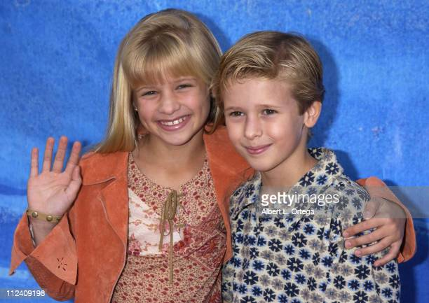 Jenna Boyd and Cayden Boyd during 'Treasure Planet' Premiere at The Cinerama Dome in Hollywood California United States