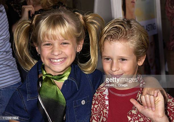 Jenna Boyd and Cayden Boyd during 'Tuck Everlasting' Premiere at El Capitan Theater in Hollywood California United States