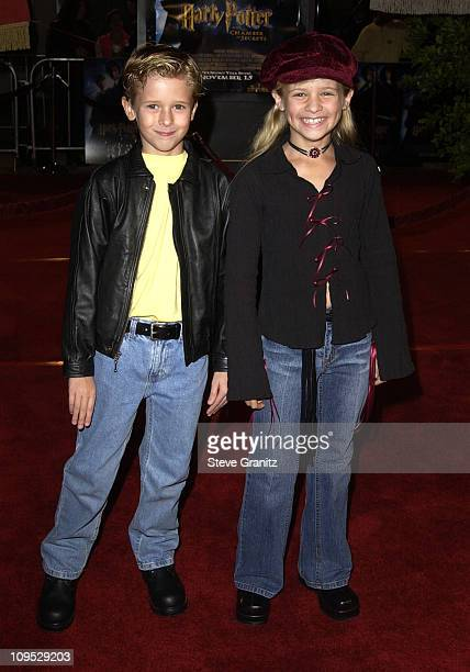 Jenna Boyd Cayden Boyd during 'Harry Potter and the Chamber of Secrets' Premiere Los Angeles Arrivals at Mann Village Theatre in Westwood California...