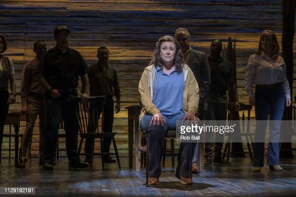 Jenna Boyd performs during a photocall for 'Come from Away' at Phoenix Theatre on February 12 2019 in London England