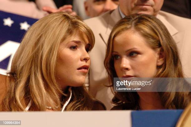 Jenna Bush and Barbara Bush during 2004 Republican National Convention Day 2 Inside at Madison Square Garden in New York City New York United States