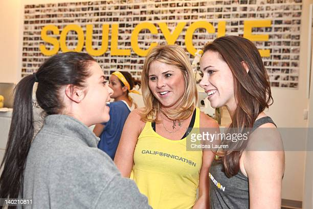 Jenna Bush Hager and Barbara Bush host SoulCycle charity ride to benefit the Global Health Corps on February 29, 2012 in West Hollywood, California.