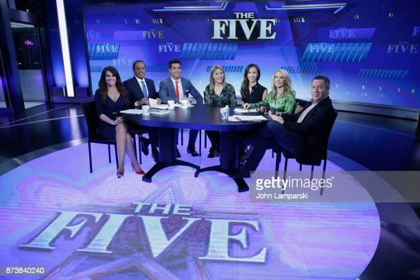 Jenna Bush Hager and Barbara Bush join the hosts of the The Five Kimberly Guilfoyle Juan Williams Jesse Watters Dana Perino and Greg Gutfeld at Fox...
