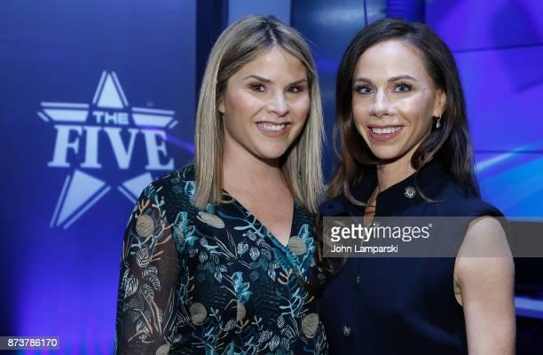 Jenna Bush Hager and Barbara Bush visit 'The Five' at Fox News Studios on November 13 2017 in New York City