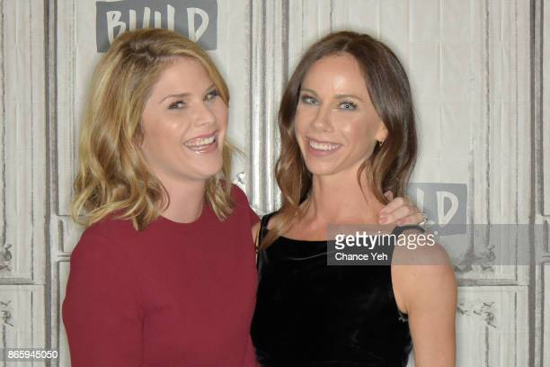 Jenna Bush Hager and Barbara Pierce Bush attend Build series to discusss the book Sisters First Stories from Our Wild and Wonderful Life at Build...