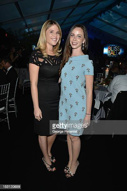 Jenna Bush Hager and Barbara Pierce Bush attend the SickKids Bliss Ball at Fort York on September 29 2012 in Toronto Canada