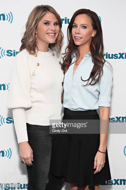 Jenna Bush Hager and Barbara Pierce Bush visit the SiriusXM Studios on November 15 2017 in New York City