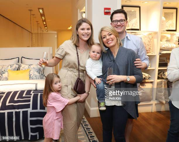 Jenna Bush Hager and Dylan Dreyer attend 'Siriously Delicious' by Siri Daly book launch event at Williams Sonoma Columbus Circle on April 14 2018 in...