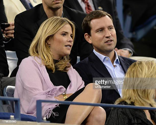 Jenna Bush Hager and Henry Hager attend the 2013 US Open at USTA Billie Jean King National Tennis Center on September 5 2013 in New York City