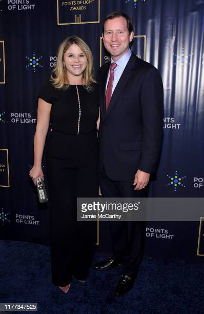 Jenna Bush Hager and Henry Hager attend The George HW Bush Points Of Light Awards Gala at Intrepid SeaAirSpace Museum on September 26 2019 in New...