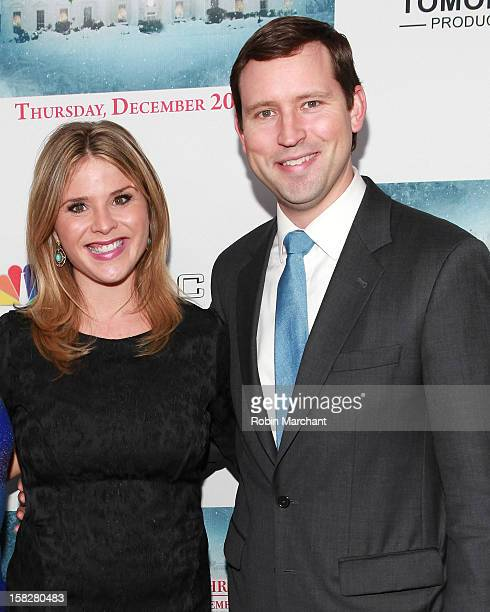 Jenna Bush Hager and husband Henry Chase Hager attend A White House Christmas First Families Remember Premiere Party at Tenjune on December 12 2012...