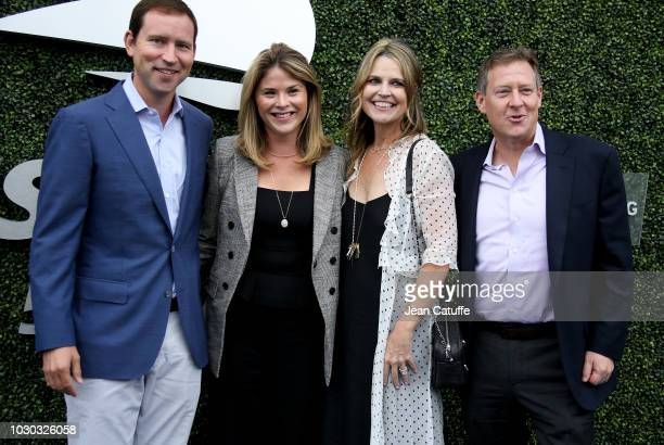 Jenna Bush Hager and husband Henry Hager Savannah Guthrie and Michael Feldman attend the men's final on day 14 of the 2018 tennis US Open on Arthur...